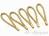 金具無しストラップ(根付紐) 5cm×5本 (ゴールド)