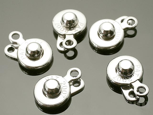 ニューホック (小) 14×7mm (ロジウムカラー) ×5個