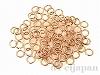 丸カン 0.8×5mm (ピンクゴールドカラー) ×5g