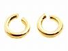 丸カン 0.5×2.3mm ×2個 K14WG(ホワイトゴールド)