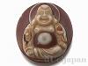財神天珠(彌勒佛観音彫り)パーツ39×34mm