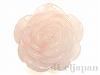 38〜43mm バラ彫りペンダント ローズクォーツ ×1個