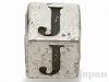 アルファベットパーツ【J】キューブ6mm