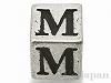 アルファベットパーツ【M】キューブ6mm