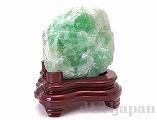 【処分価格】 フローライト 原石(木製台座付)2860g