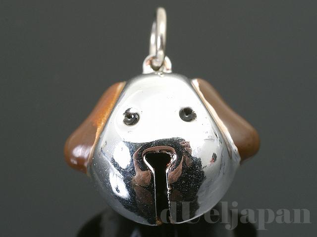 イヌ鈴(犬) 19×18mm (シルバー)