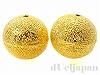16mm スターダスト銅玉ビーズ (ゴールドカラー) ×2個