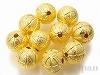 10mm銅玉ビーズ (ゴールドカラー) ×10個