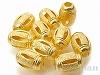 銅ビーズパーツ12×8mmライス(ゴールドカラー)×10