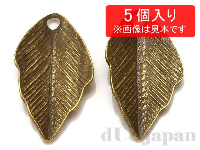 メタルリーフ 11×6mm (金古美) ×5個