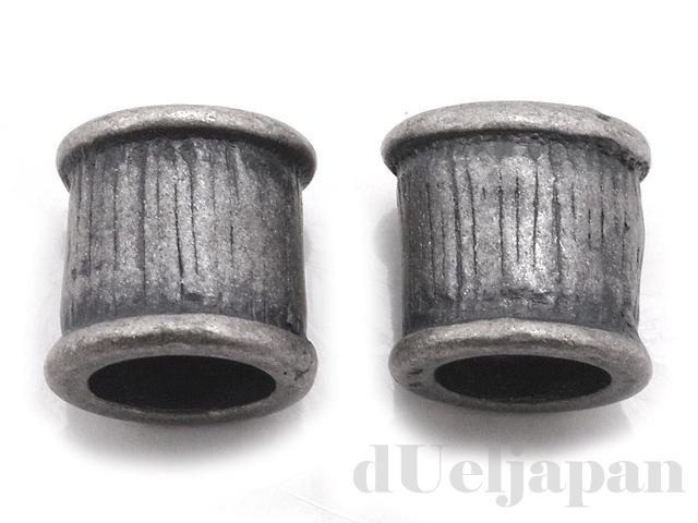 パイプ 6×6mm (銀古美) ×2個
