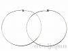 ネックリング 40cm (シルバーカラー) ×2本