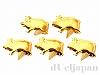 12×7mm コターピン(スタッズ) 豚 ゴールドカラー ×5個