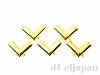 10×14mm コターピン(スタッズ) ゴールドカラー ×5個