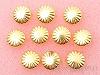 8mm コターピン(スタッズ) ゴールドカラー ×10個