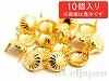 6mm コターピン(スタッズ) ゴールドカラー ×10個