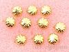 4mm コターピン(スタッズ) ゴールドカラー ×10個