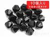 15 6mmソロバンカット プレクシカットビーズ ×10個【黒】