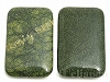 55×35mm 長方形 グリーンオブシディアン ×2個