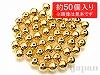 6mm 銅玉ビーズ(本金メッキ) 丸玉 ×約50個