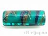 2 16×6mmチューブ(シリンダー・円柱) チェコビーズ (ブルーグリーン)