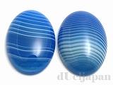 25×18mm カボション ブルーラインアゲート ×2個