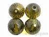 キュービックジルコニア8mm(丸玉カット/グリーン)×4個
