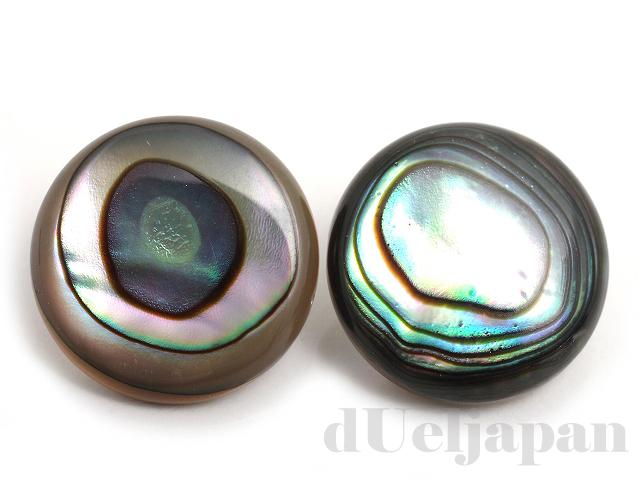 アバロンシェル12mm(コイン/カボション) ×2個