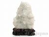 【浄化アイテム】天然水晶原石21×25cm(菊花水晶/木製台座付)