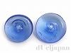 日本製ガラスビーズ13mm (ブルー) 2個