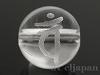 梵字天然水晶10mm(丸玉/バン/素彫り)