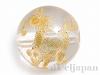 天然水晶・十二支彫り【うま/午】10mm(丸玉/ゴールド)