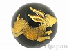 オニキス十二支彫り【うさぎ/卯】12mm(丸玉/ゴールド)