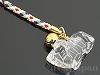 水晶十二支 手彫りストラップ9cm【ひつじ/未】(ゴールドメッキ)