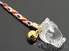 水晶十二支 手彫りストラップ9cm【とり/酉】(ゴールドメッキ)