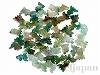 金魚彫りアゲート 22〜30mm(緑) ×50個
