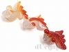 金魚彫りアゲート 22〜30mm(赤) ×3個