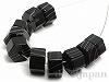 ブラックラインアゲート4×7mm(ヘキサゴン)10個