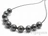 シェルパール/貝真珠 3〜3.5mm (丸玉) ダークグリーン ×10個