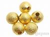 メタルビーズ10mm(ゴールドカラー) 6個