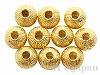 メタルビーズ4mm(ゴールドカラー) 10個