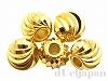 メタルビーズ5mm(ゴールドカラー) 5個