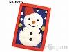 【フェルトキット】クリスマスカード(ゆきだるま)