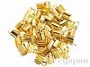 ひも留め(カシメ) 内幅約2mm (ゴールドカラー) ×50個