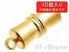 強力マグネットクラスプ 16×5mm (ゴールドカラー) ×10ペア