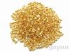#195 2×2.5mm 18金メッキガラスビーズ 六角大2カット(六角チューブ) ×10g【クリスタルゴールドライン(純金メッキ)】