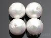 片穴丸玉 12mm 4粒 コットンパール(リッチホワイト)