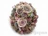 薔薇の楕円ブローチ