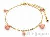 桃色珊瑚のブレスレット
