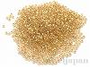 #195 1.5mm 18金メッキガラスビーズ(丸特小) ×5g【クリスタルゴールドライン(純金メッキ)】